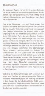 "12.09.2017 ""Ursus Olfaciens"" Historisches © Berliner Bärenfreunde e.V."