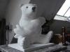 4.11.12 Atelierbesuch bei Ernst Leonardt   Entwurf  Knut Denkmal für den Zoo