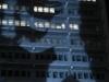 Berliner Verlag am Alexanderplatz mit der Lichtinstallation von Oliver Bienkowski