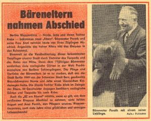Titelseite der BZ am Abend vom 26. Mail 1964 Mit freundlicher Genehmigung des Berliner Kuriers