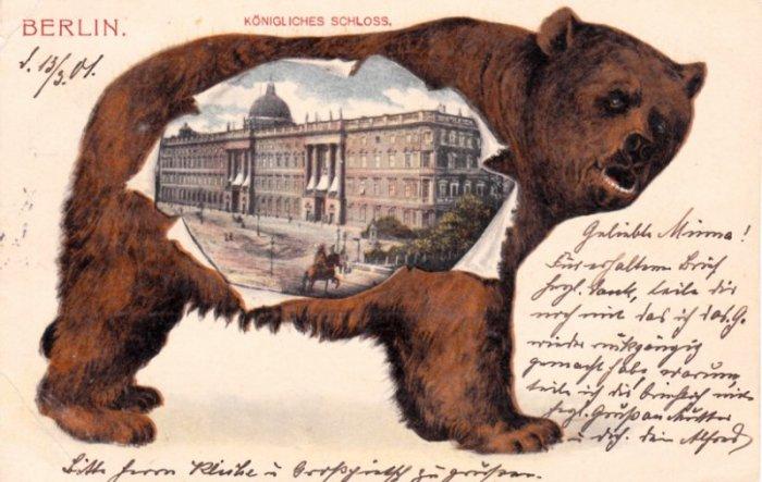 AK 1901 Bär Königliches Schloss © Sammlung Christa Junge