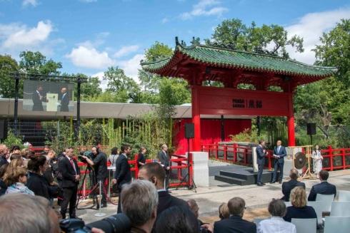 Eröffnung Panda Garden Eingang © Zoo Berlin