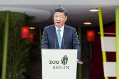 Staatspräsident Xi Jinping spricht am Panda Garden © Zoo Berlin
