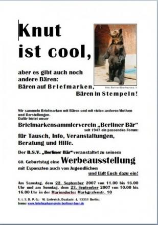 2007 Werbeposter Schulen Foto © BSV Berliner Bär