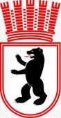 Wappen mit Krone Berlin-West bis 1954, danach auch weiterhin für Ost-Berlin