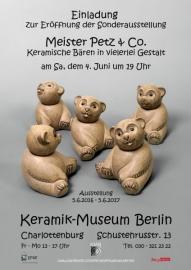 Einladung zur Ausstellung Keramik-Museum Berlin © Berliner Bärenfreunde e.V.