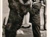 Staffelbär Purzel trinkt noch gern sein Fläschchen - Postkarte