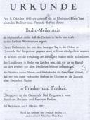 Südpfalz-Kurier Schenkungsurkunde 9.10.1983