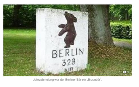 """Jahrzehntelang war der Berliner Bär ein """"Braunbär"""""""