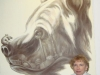 16 Frau Junge mit Berliner Bär © W. Bentz