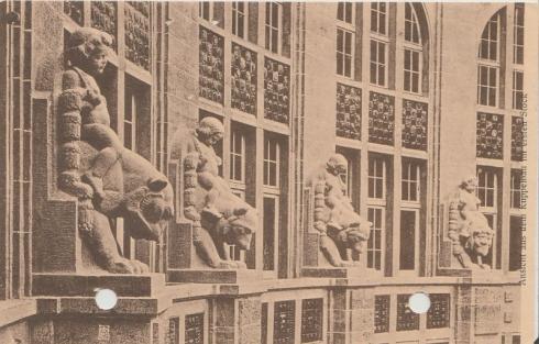 1940 Friedrichstraßen-Passage mit Bärenskulpturen, Verlag Georg Stilke, Berlin N.W.7 © Privatsammlung Christa Junge