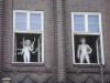 Im ehemaligen AOK Gebäude ist Kunst zu sehen Foto © Frau Junge