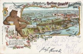 Postkarte Gewerbeausstellung 1896 Berlin © Christa Junge
