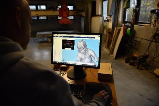 Das 3D-Modell kann auf dem Computer weiter bearbeitet werden. Foto: Arnold