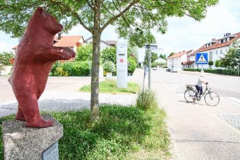 Der Berliner Bär an der Berliner Straße in Ingolstadt. Foto © Hammer