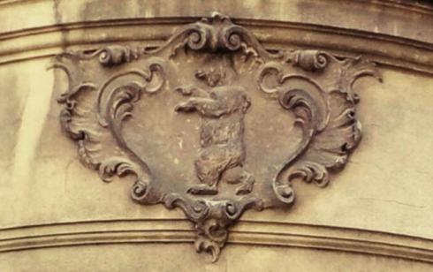 Kartusche mit Berliner Wappenbär