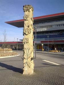 Gesamtansicht der Poststele Foto © Grell/Bernau, Februar 2015