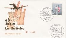 Ersttagsbrief 40 Jahre Luftbrücke 05.05.1989 © Sammlung Christa Junge