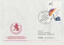 Stempel Erstausgabe Luftbrücke1948-1999 Berliner Luftbrücke vom 04.05.1999 mit Briefmarke 1948-1999 Berliner Luftbrücke © Sammlung Christa Junge