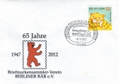 Sonderstempel zum 65. Jubiläum des BMV Berliner Bär