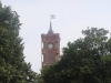Rotes Rathaus mit Berliner Fahne mit Bär - Foto © Christa Junge